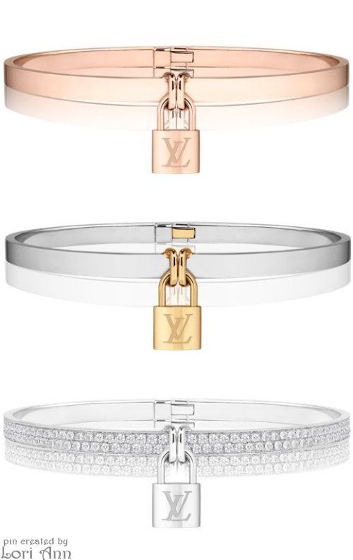 Love these Louis Vuitton Lockit Bracelets