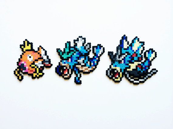 Pokemon Perler - Magikarp / Gyarados / Mega Gyarados or Full Set of 3