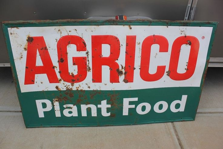 Man Cave Store Charlotte Nc : Vintage agrico plant food fertilizer farm feed store sign