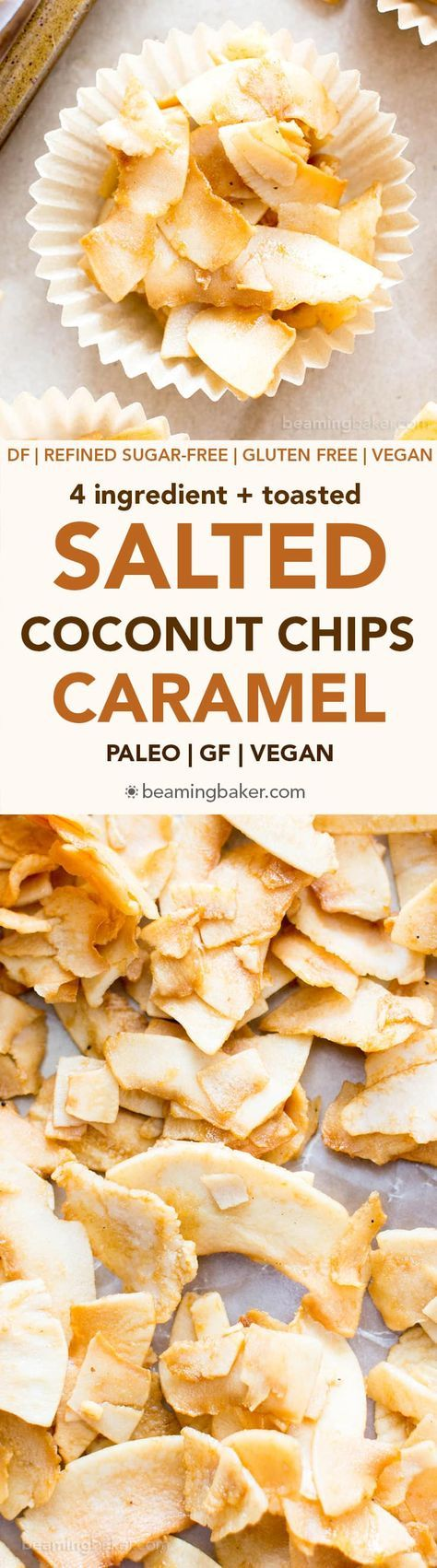 Salted Caramel Coconut Chips #christmas #recipe