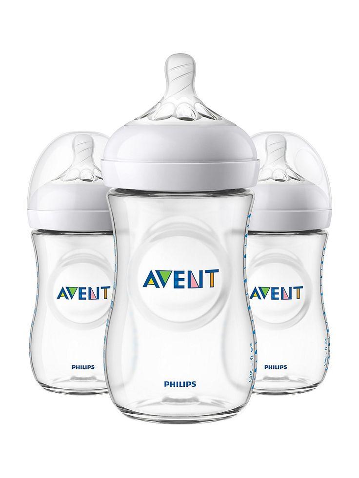 Philips avent 3piece 266ml natural bottle set thebay