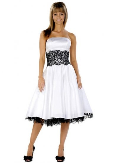 17 best ideas about applique cocktail dress on pinterest for Black tea length wedding dress