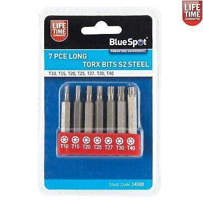 Bluespot 7pc Long Torx Star Drill Bit Set T10, T15, T20, T25, T27, T30 & T40 http://www.ebay.co.uk/itm/Bluespot-7pc-Long-Torx-Star-Drill-Bit-Set-T10-T15-T20-T25-T27-T30-T40-/222617199972 #Offer #screwdriversbits