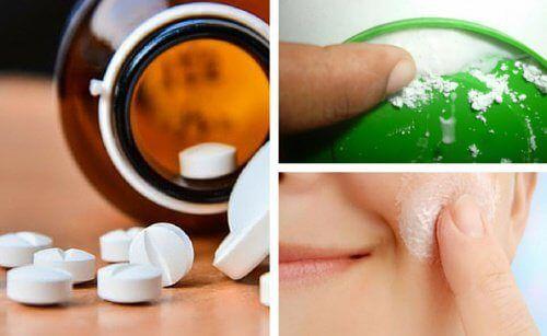 Bei der Entfernung von toten Hautzellen wirkt Aspirin in Form von Peelings am effektivsten. Bei sensibler Gesichtshaut muss es vorsichtig aufgetragen werden