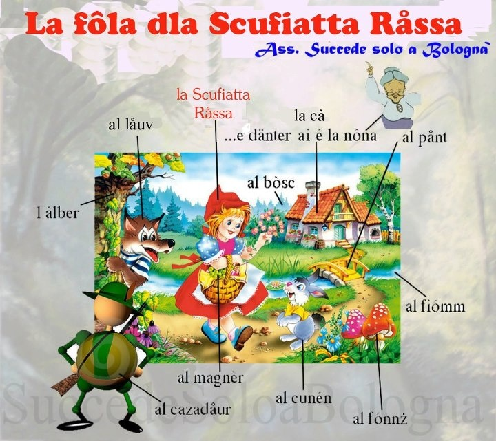 Red Riding Hood in Bolognese Dialect  www.succedesoloabologna.it