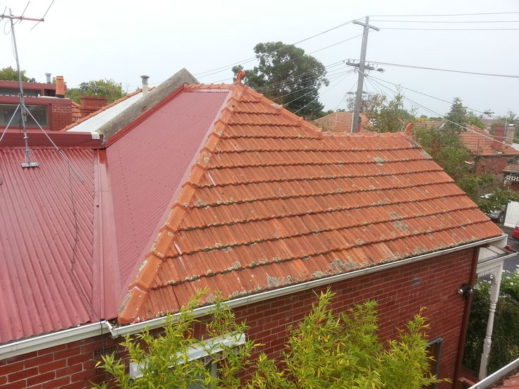Colorbond Roofing with Terracotta roof repairs - Manor Red