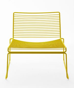 Hee lounge chair - Yellow by HAY