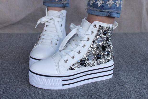 canvas shoes for women | Women-s-Canvas-Shoes-Smart-Studded ...