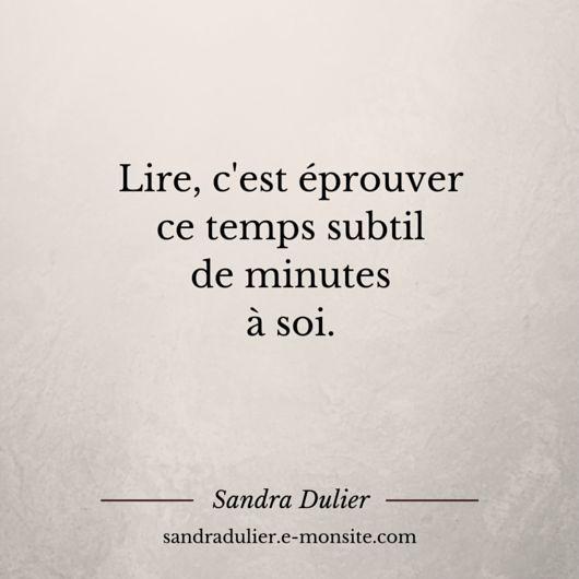 French quote - citation - pensée positive - lire - Sandra Dulier