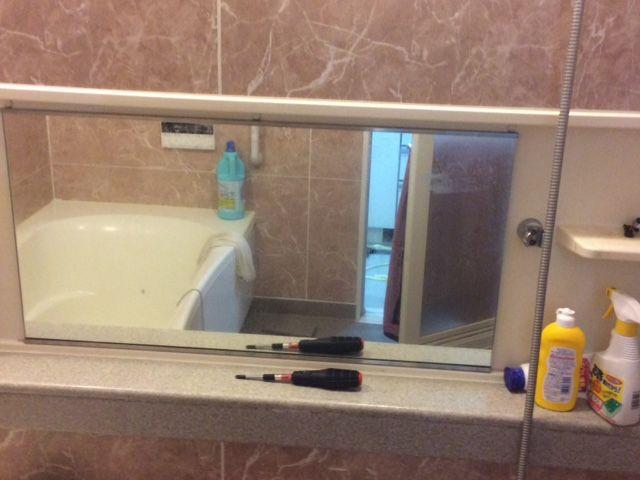 横長の浴室鏡を新しいものに交換されました 画像あり 鏡 浴室