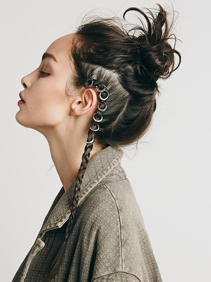 Free People Etched Hair Ring Set at Free People Clothing Boutique