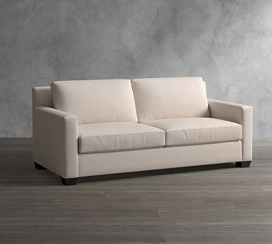 York Square Arm Upholstered Sofa 80 Quot Down Blend Wrapped