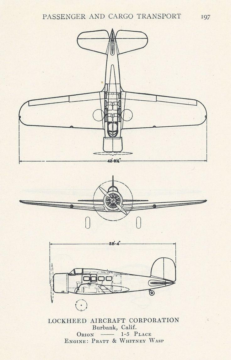 Airplane Diagram  Aviation Print  Vintage Illustration