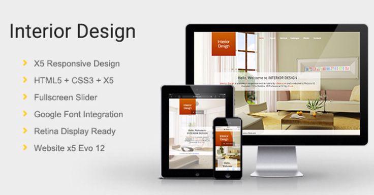 9 best website x5 evolution 10 templates 2014 images on for Top 10 interior design websites