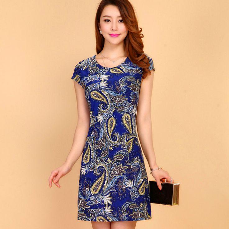 >> Click to Buy << Women Dress Casual Lace Women Dress Short Sleeve Plus Size Black And White Maxi Dress Print Flower Women Dresses Knee Length #Affiliate