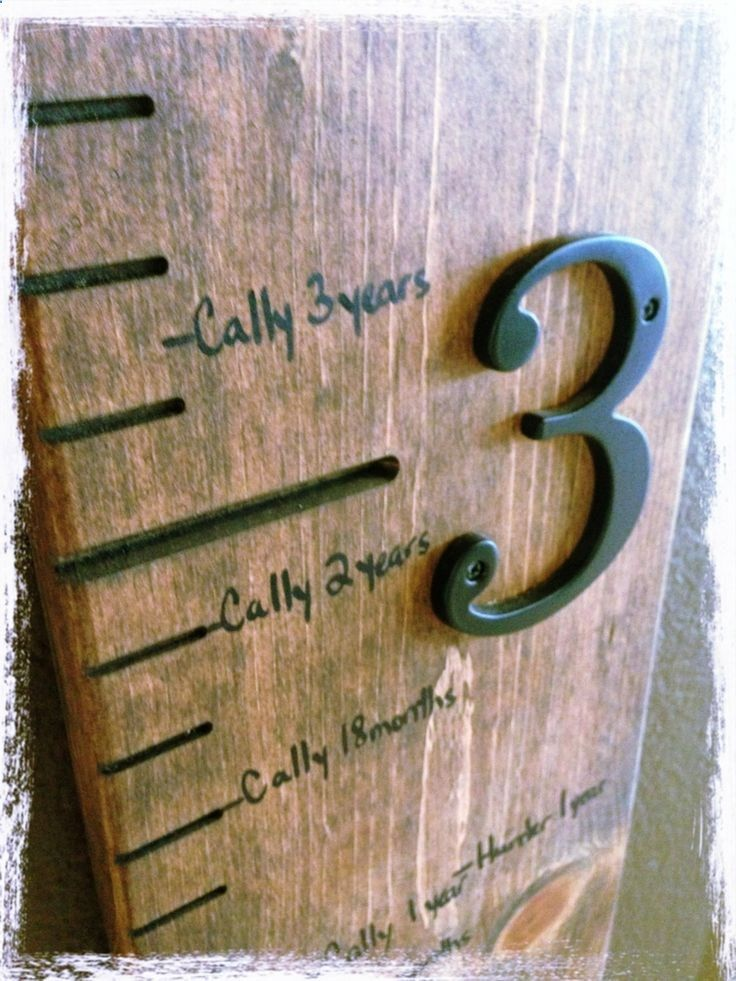 Handcrafted wooden carved height measuring stick by PrimitiveRust, $100.00