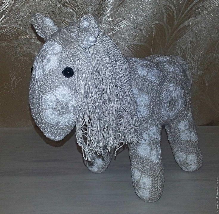 Купить Лошадка серая - чёрно-белый, лошадка, лашадки, лошадь, лошадь игрушка, интерьерная игрушка
