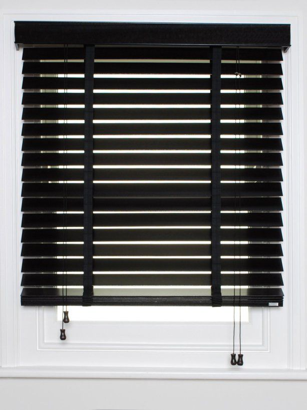 black wooden venetian blinds - Google Search