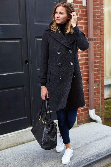 Emerson Peacoat - Charcoal Wool   Emerson Fry
