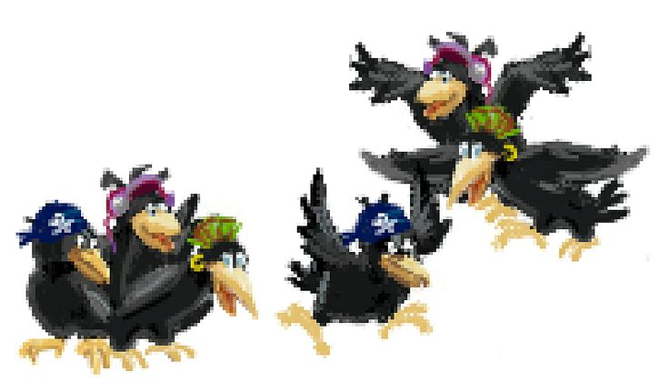 #PixelArt of the day: When playing Clash of Gnomes Episode 2, remind: Don't walk too close to the #Crows Gang!