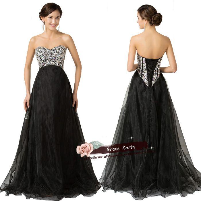 Черный длинные пром платья 2015 Новый Прибытие Бисером sweatheart abiye gece elbisesi Роскошный Кристалл Rhinestone бальное платье платье 3107
