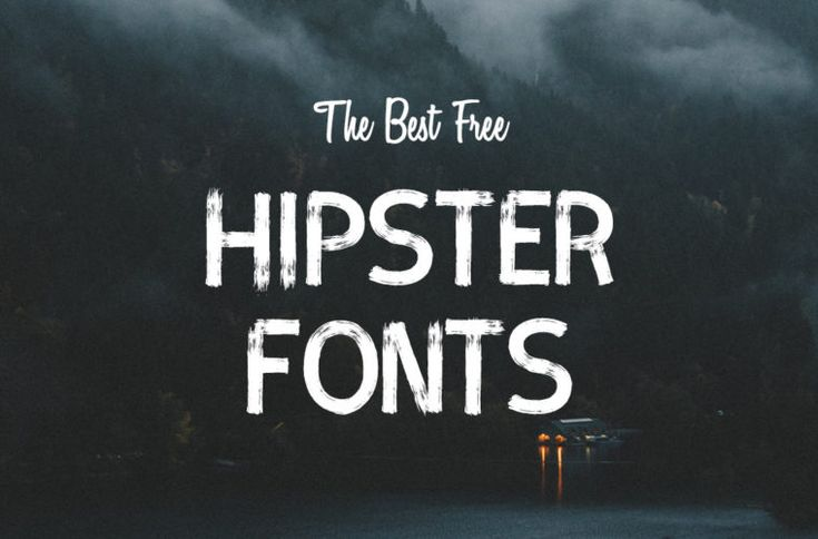 The best 30+ essential free hipster #fonts