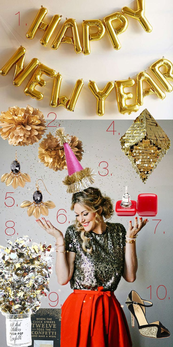 Silvester Party Ideen, Outfits & VERLOSUNG | Pinspiration