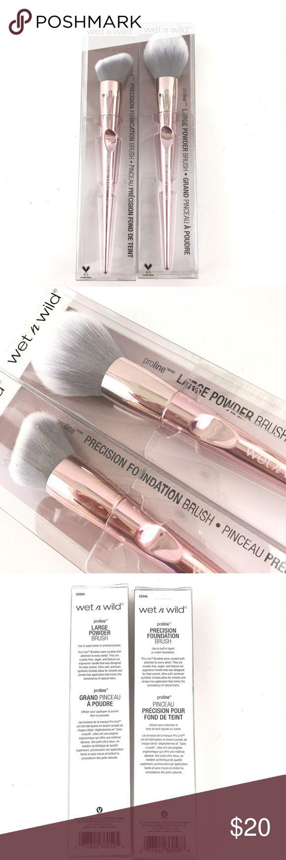 Moist N Wild Proline Make-up Brushes Pink Metallic Moist N Wild Proline Make-up Brushe…