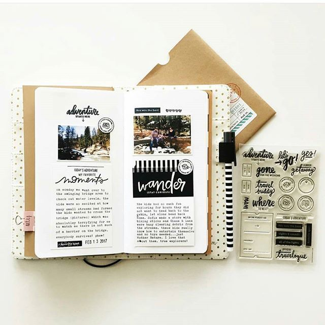 The @inacreativebubble journal cards are awesome for #travelersnotebook projects.