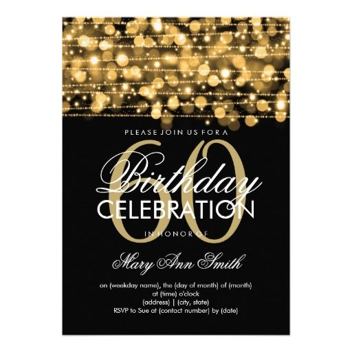 Best 25 60th birthday invitations ideas – Printable 60th Birthday Cards