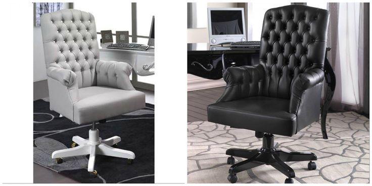 Klasszikus stílusú irodai karosszék, forgószék gyönyörűen kidolgozott, tetszetős gombokkal.  A modern követelményeknek megfelelően az ülésmagasság állítható. Ha a klasszikus stílus kedvelője, vagy, biztosan szívesen látod majd irodádban vagy otthoni dolgozószobádban.