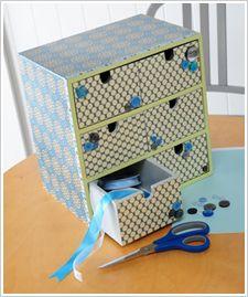 Craft Painting - Polka Dot Six Drawer Organizer