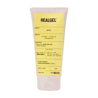 NEW HealGel Body - Infused with healing arnica, this gel nourishes and repairs distressed skin and locks in moisture all day long.