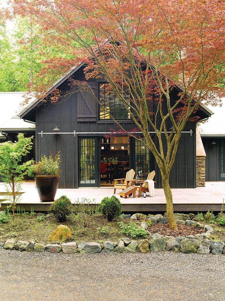 Gray siding exterior metal Pole Barn Home