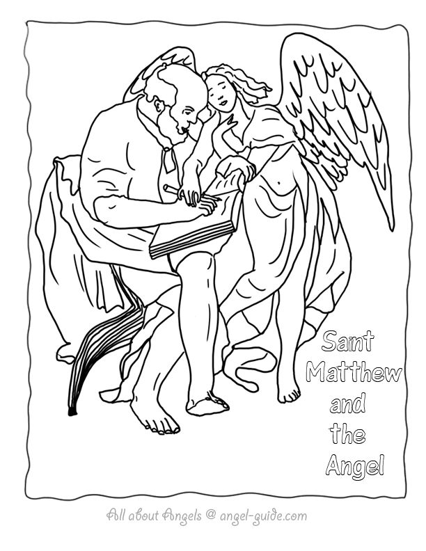 10 best  Angels and Saints images on Pinterest  Coloring pages