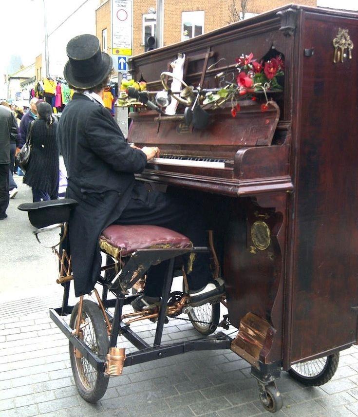 One of London's Hidden Treasures – Rimski's Bicycle Piano!