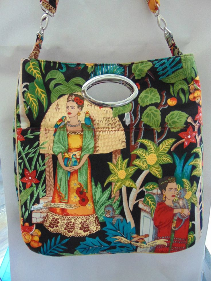 Window Shopper Tote Frida's Garden Huge Shoulder Bag