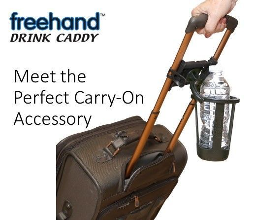Freehand Self-leveling Drink Holder for Carry on luggage, travel accessory #FreehandTravel