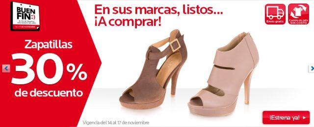 Ofertas Buen Fin: 30% de descuento en Zapatillas, en Coppel. Buen Fin, del 14 al 17 noviembre de 2014. #Promo #BuenFin