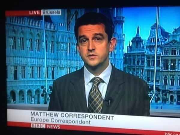 This one is probably an error, but Matthew Correspondent is a great name for a news correspondent: