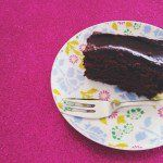 Delicious & dairy-free chocolate fudge cake