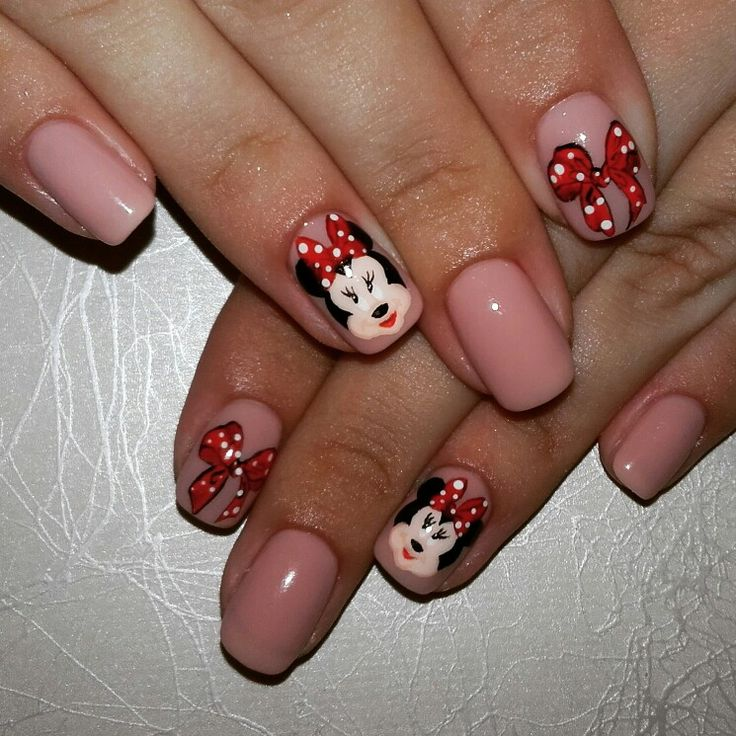 114 best nails art painting images on pinterest nail art nail nails art painting mikey mouse prinsesfo Images