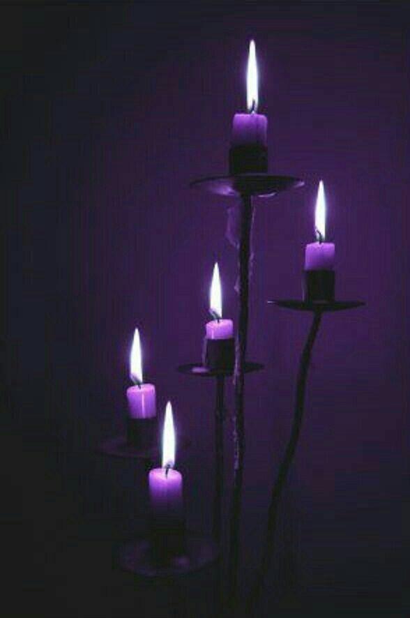 تــنــسيــق بــــروفايـــلات مغلق مؤقت Purple Candles Purple Aesthetic Witch Candles