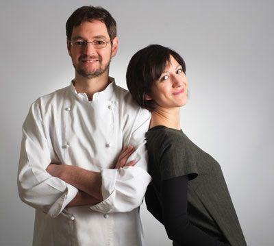 "Chef Marco Rossi ed Elisa Campa  ""La Mugnaia"" di Ivrea www.mugnaia.com"