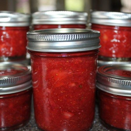 Strawberry Freezer Jam - Here is an easy jam recipe that requires no cooking or canning! Make your own delicious freezer jam at home!