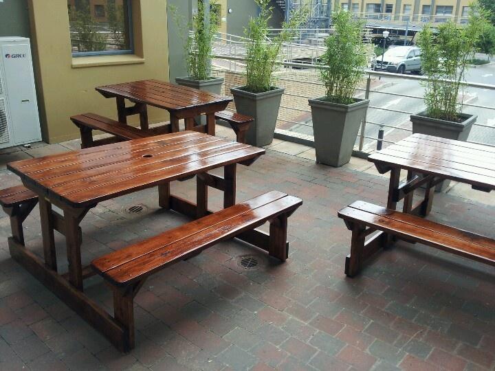 Nice wooden benches-Netstar midrand