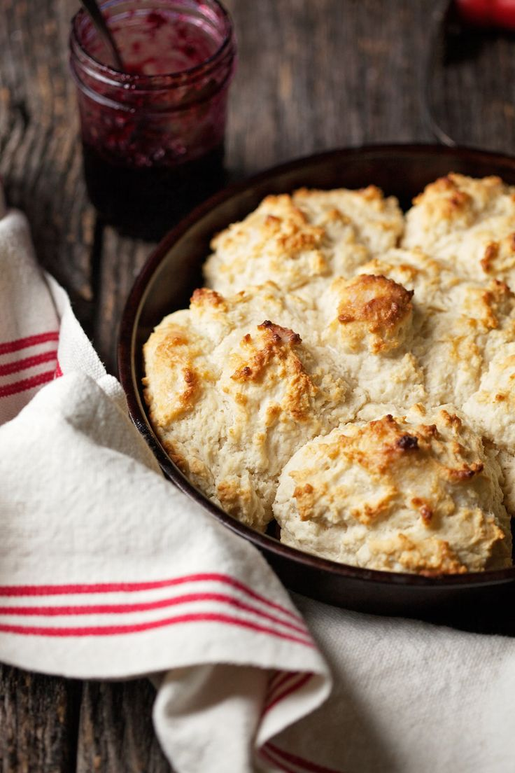 Cat head biscuits really are huge, but they are soft, pillowy, easy drop biscuits you don't have to roll or cut.