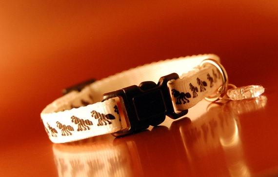 Breakaway cat collar with cute ant pattern £6 #etsy #cat #collar