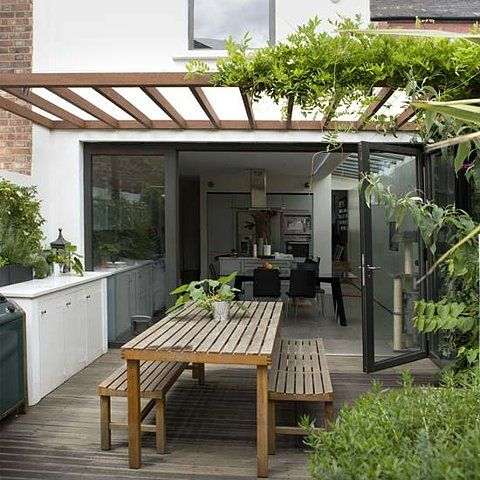open design attached patio cover