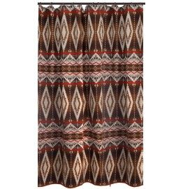 Pecos Trail Southwestern Fabric Shower Curtain #westbysouthwestdecor